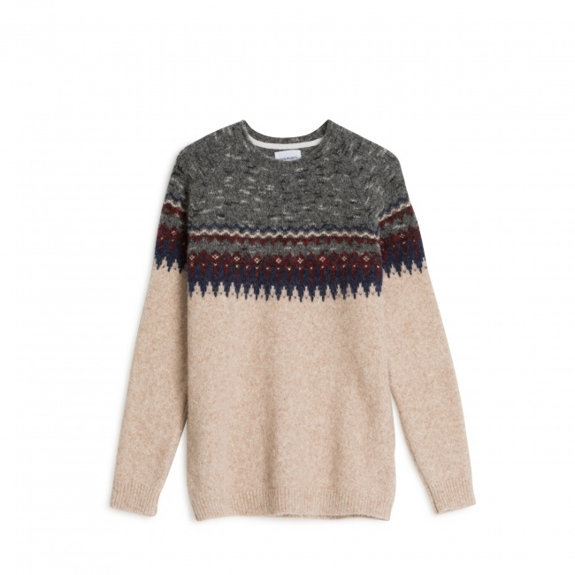 Norse Projects Birnir Fairisle Alpaca knit - Norse Projects